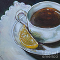 Tea And Lemon by Kristine Kainer
