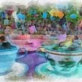 Tea Cup Ride Fantasyland Disneyland Pa 01 by Thomas Woolworth