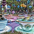 Tea Cup Ride Fantasyland Disneyland by Thomas Woolworth