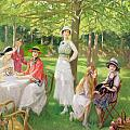 Tea In The Garden by Jules Cayron