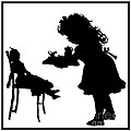 Tea Party Dolly Silhouette by Rose Santuci-Sofranko