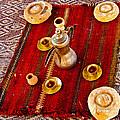 Tea Service In A Bedouin Tent In Wadi Rum-jordan by Ruth Hager