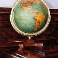 Teacher - Globe On Piano by Susan Savad