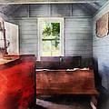 Teacher - One Room Schoolhouse With Hurricane Lamp by Susan Savad