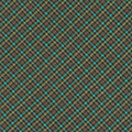 Teal And Green Diagonal Plaid Pattern Fabric Background by Keith Webber Jr