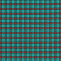 Teal Red And Black Plaid Fabric Background by Keith Webber Jr
