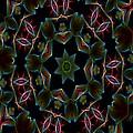 Teal Star Burst by Taiche Acrylic Art