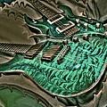 Teal Steel Digital Guitar Art By Steven Langston by Steven Lebron Langston