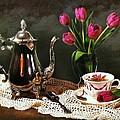 Tea'n Tulips by Diana Angstadt