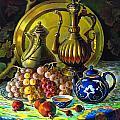 Teapot And Brass Vases by Lyubov Jiboedova