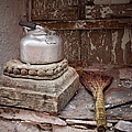 Teapot And Broom by Joan Carroll