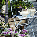 Teapots And Flowers by Heather Applegate