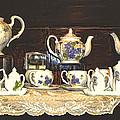 Teapots On Grundge by Bonnie Willis