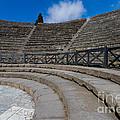 Teatro Grande Or Grand Amphitheater Pompeii Italy by Dan Hartford