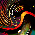Techno  Neon Stripes by Expressionistart studio Priscilla Batzell