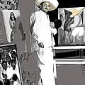 Ted Degrazia Painting Mural With Brush Mexico City C.1941-2013 by David Lee Guss