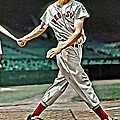 Ted Williams Painting by Florian Rodarte