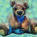 Teddy Bear In Blue by Barbara Snyder