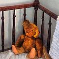 Teddy Bear In Crib by Susan Savad