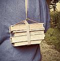 Teen Boy's Back With Books by Edward Fielding