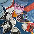 Teens In Converse Tennies by Lynda Coon
