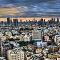 Tel Aviv Skyline Winter Time by Ron Shoshani