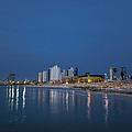 Tel Aviv The Blue Hour by Ron Shoshani