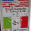 Telephone  Usa Mexico One Dollar Four Minutes Booth Us Mexico Flags Eloy Arizona 2005 by David Lee Guss