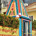 Colorful Temple - Rishikesh India by Kim Bemis