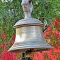 Beautiful Temple Bell At Vishwanath - Himalayas India by Kim Bemis