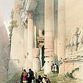 Temple Called El Khasne by David Roberts