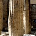 Temple Columns With Window Peek by Lorraine Devon Wilke