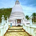 temple complex at the tropical island Sri Lanka by Regina Koch