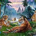 Temple Lake Tigers by Jan Patrik Krasny