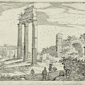 Temple Of Castor And Pollux And The Basilica Of Constantine by Willem Van Nieulandt (ii) And Anonymous