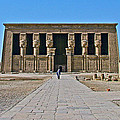 Temple Of Hathor Near Dendera-egypt by Ruth Hager