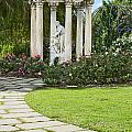 Temple Of Love Statue At The Rose Garden Of The Huntington. by Jamie Pham