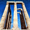 Temple Of Olympian Zeus  by George Atsametakis