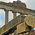 Temple Of Saturn In The Roman Forum by Jean Hall