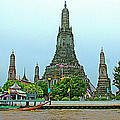 Temple Of The Dawn-wat Arun From Waterways Of Bangkok-thailand by Ruth Hager