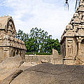 Temples At Mamallapuram by Ross G Strachan
