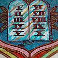 Ten Commandments Glass by Bob Pardue