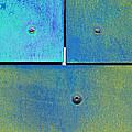 Ten Eleven Twelve - Colorful Rust - Cyan Lime by Menega Sabidussi
