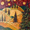 Ten Moons In Scarlet Sky by Jacqui Hawk