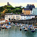 Tenby Harbour Panorama by Jeremy Hayden