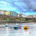 Tenby Harbour Wales by Michael Charles