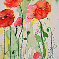 Tender Poppies - Flower by Ismeta Gruenwald