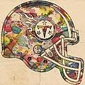 Tennessee Titans Helmet Poster by Florian Rodarte