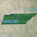 Tennessee Word Art State Map On Canvas by Design Turnpike