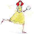 Tennis Lady by Ch' Brown